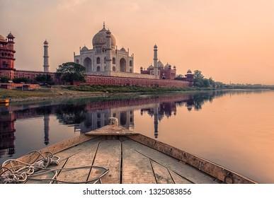 Sunset over the Taj Mahal, Agra, India