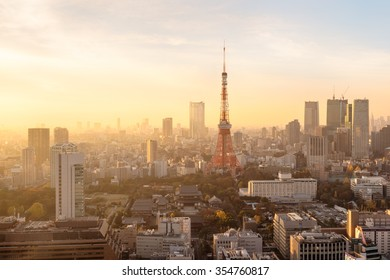 Sunset over Tokyo. Tokyo  is both the capital and largest city of Japan. The Greater Tokyo Area is the most populous metropolitan area in the world.