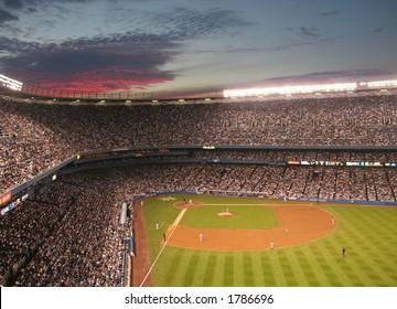 Sunset over Yankee Stadium