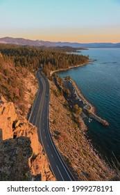 Sunset overlook at Lake Tahoe