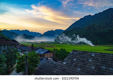 Sunset in Pac Ngoi village, Ba Be, Bac Kan