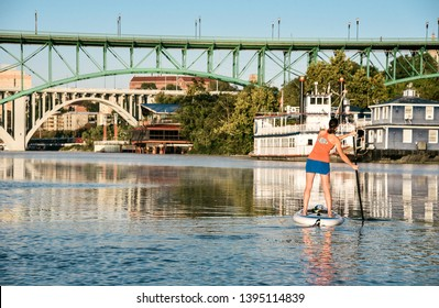 Sunset Paddling on the Tennessee River in Knoxville