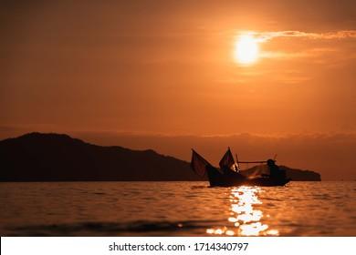 sunset in pakbara satun thailand