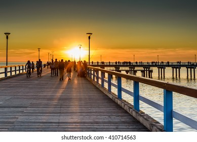Sunset in Palanga, Lithuania! View from pier.