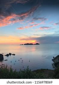 Sunset in Palmarola island