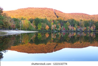 Sunset Panorama of the Lake at Cheaha State Park, Alabama in Late October