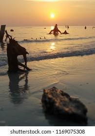 sunset at pantai kelanang, banting, selangor