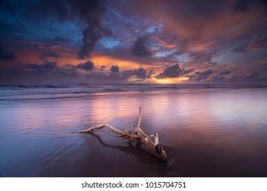 Sunset at Parangtritis Beach, Bantul, Yogyakarta