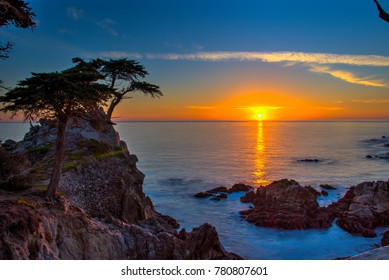 Sunset at Pebble Beach - Carmel by the Sea - California.
