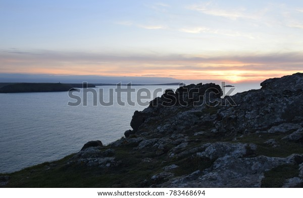 Sunset at Pentire Point, North Cornwall