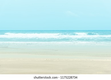 At sunset period, Tropical beach with Blue sky and clear sea. the summer beach to take a vacation period for relaxing.