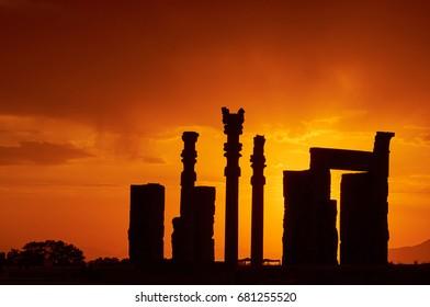 Sunset in Persepolis