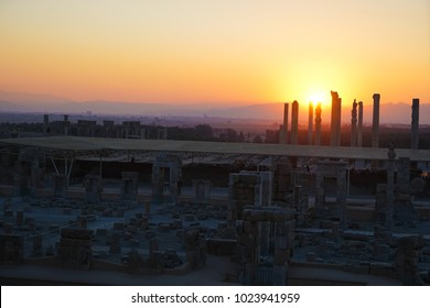 Sunset at Persepolis, whose magnificent ruins rest at the foot of Kuh-e Rahmat (Mountain of Mercy) in south-western Iran, is among the world's greatest archaeological sites.