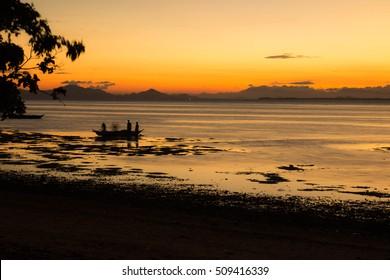 Sunset  in Philipines paradise island