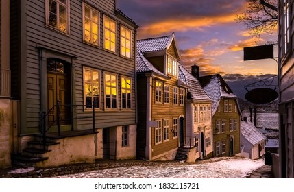 Sunset photo from Gamle Bergen,Norway