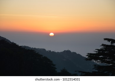 Sunset photos at  Dalhousie, Himachal Pradesh India