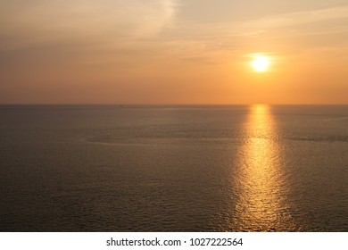 sunset at Phrom thep cape or Laem Phrom thep in Phuket island, Thailand,this is a famous place in thailand