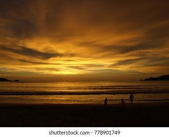 Sunset at Phutket Thailand
