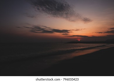 Sunset picture at a beach