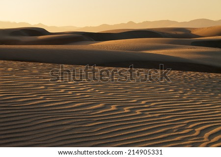 Sunset at Pismo beach Nipomo Sand Dunes