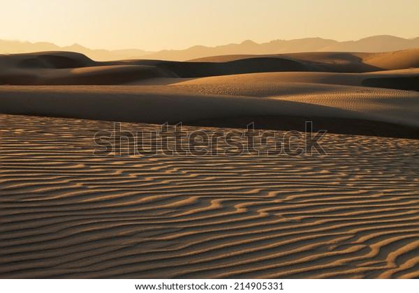 Sunset at Pismo beach Nipomo Sand Dunes