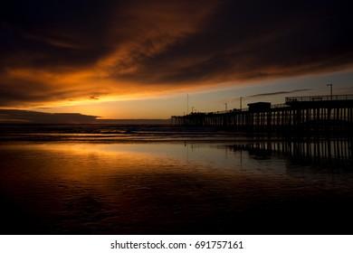 Sunset at Pismo Beach pier (Highway One, California)