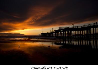 Sunset at Pismo Beach pier (Pacific Coast Highway, California)