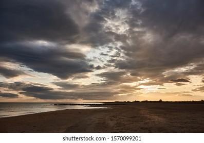 Sunset at Plage Baleine in Sète. France