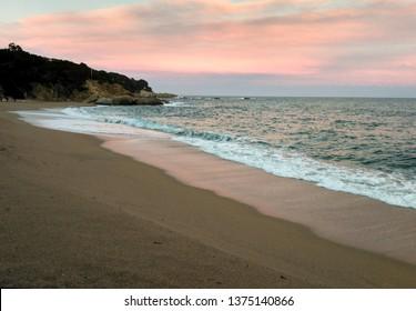 Sunset in Platja d,Aro, beach cala Gogo
