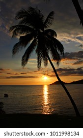 Sunset at Playa Sevilla Beach, Santiago de Cuba, Cuba, shallow focus
