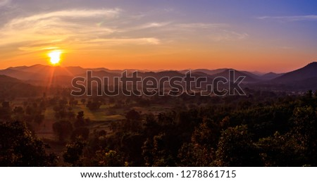 Sunset point at Daringbadi in odisha