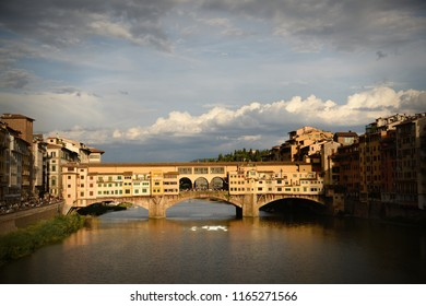 Sunset at Ponte Vecchio. Florence, Italy