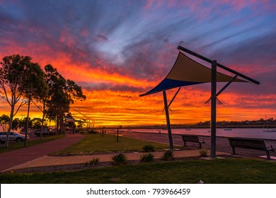 Sunset in Port Augusta, Australia