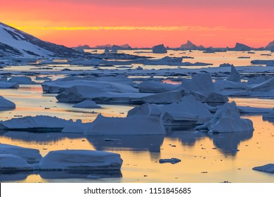 Sunset at Port Charcot, Antarctica