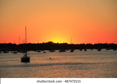 Sunset in Port Washington Long Island NY