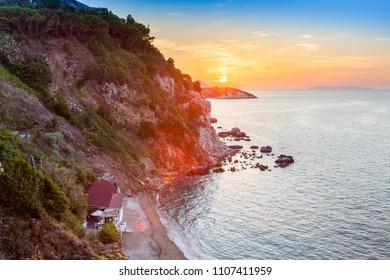 Sunset at Portoferraio, isola d'Elba, Italiy