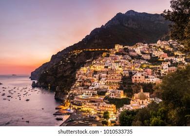 Sunset at Positano Italy Coast