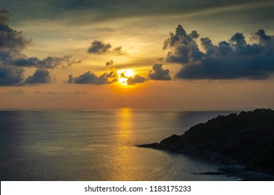 Sunset at Promthep Cape,one of the most beatiful sunset viewpoint in Puket Thailand.