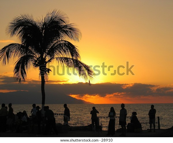 Sunset in Puerto Vallarta, Mexico