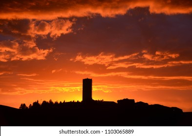 Sunset in Pullman Washington.