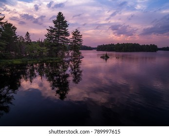 Sunset Purple Lake