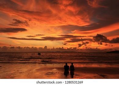Sunset, Railay Beach, Krabi, Thailand