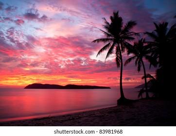 sunset at rebak island, Langkawi, Malaysia