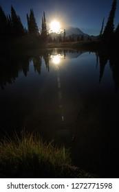 Sunset Reflection On Tipsoo Lake