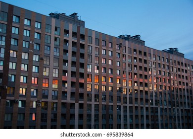 Sunset reflection in s huge life complex windows