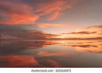 Sunset reflection Siquijor island