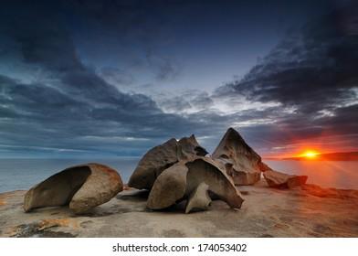 Sunset at Remarkable Rocks, Kangaroo Island, South Australia