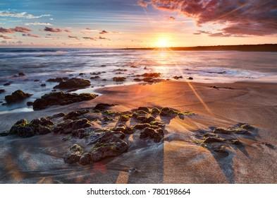 Sunset reunion island