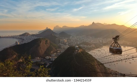 Sunset in Rio de Janeiro from Sugarloaf Mountain