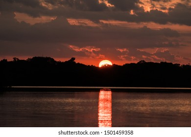 Sunset River Amazon Rainforest, Brazil
